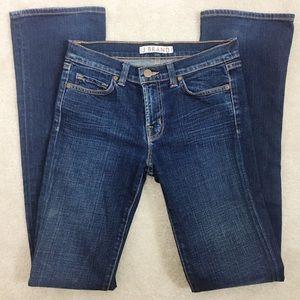 J brand blue straight leg low rise jeans 26